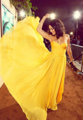 dress,yellow chiffon long prom dresses,vanessa hudgens