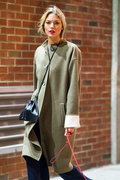coat winter outfits winter coat martha hunt model off-duty