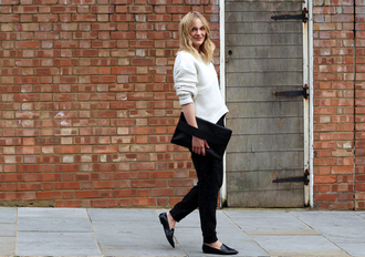 blame it on fashion blogger bag jewels alexander wang knitwear black and white