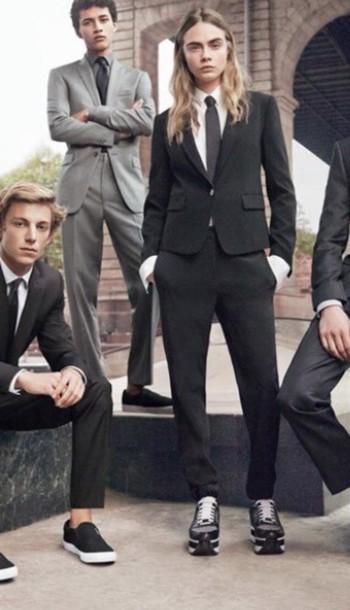 jacket suit menswear cara delevingne donna karan new york shoes