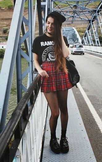skirt tartan red grunge hipster kilt