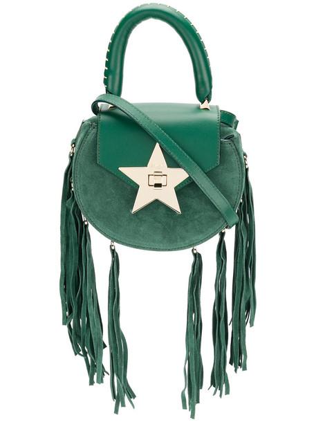 Salar women bag leather suede green