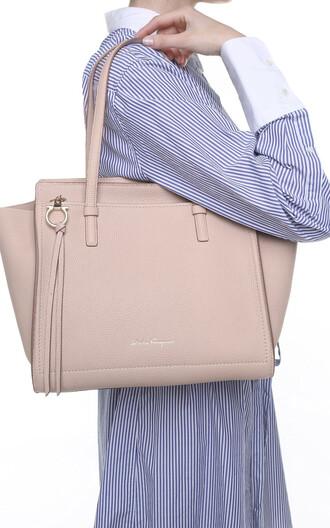 bag leather beige