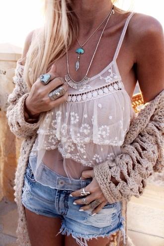 top white crotchet lace