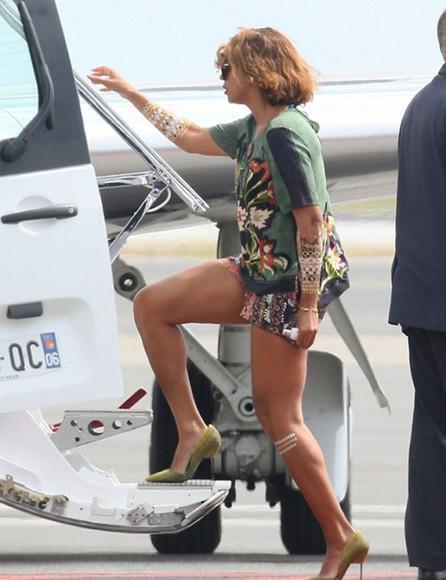 beyoncé top shoes high heels