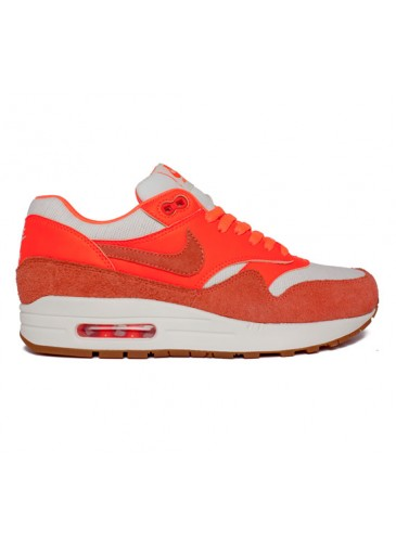 Nike Air Max 1 Vintage (Sail/Bright Mango-Total Crimson-Gum Medium Brown) - Consortium.