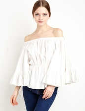top,cameo white star eyes top,cameo the label,cmeocollective,white star eyes top,white off the shoulder top,flirty top,off the shoulder,summer,summer outfits,summer top,spring outfits,special occasion dress,wedding clothes
