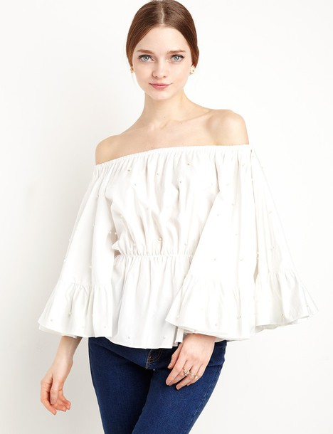 top cameo white star eyes top cameo the label cmeocollective white star eyes top white off the shoulder top flirty top off the shoulder summer summer outfits summer top spring outfits special occasion dress wedding clothes