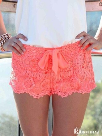 shorts pink shorts light pink shorts lace shorts knit summer shorts beach shorts