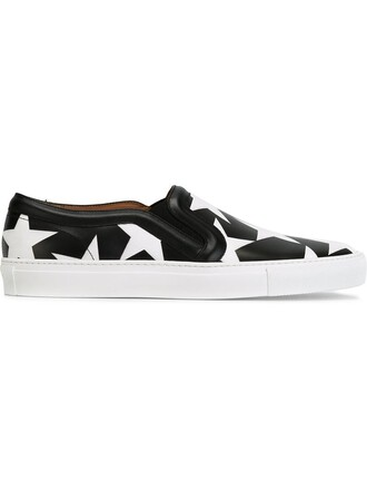 women sneakers leather print black shoes