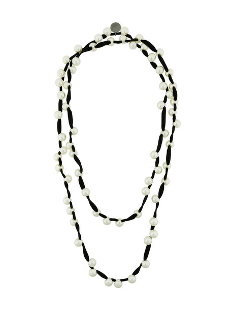 women beaded necklace black jewels