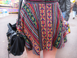 skirt tribal pattern flowy tumblr s'cute rasta paisley paisley skirt
