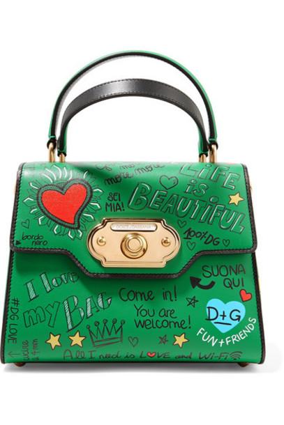 Dolce & Gabbana leather green bag