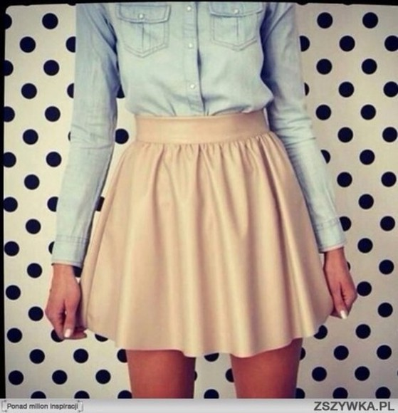 skirt shirt blouse button up blouse button up skater skirt short skirt short skater skirt beige beige skirt beige skater skirt short beige skater skirt denim blouse denim shirt button up denim