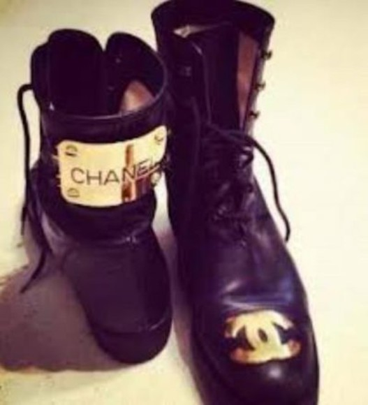 chanel shoes chanel boots boots chanel black