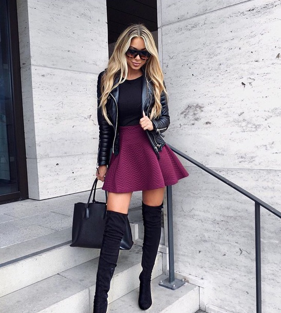 skirt burgundy burgundy flare mini skirt