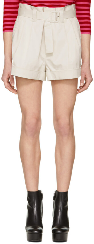 shorts pleated high white off-white