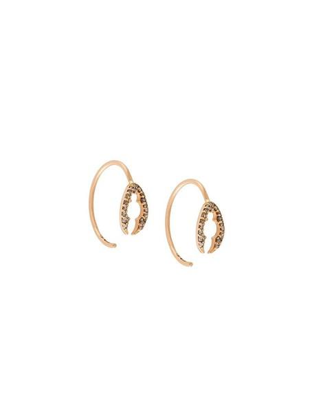 Alexia Jordan rose gold rose women earrings gold brown grey metallic jewels