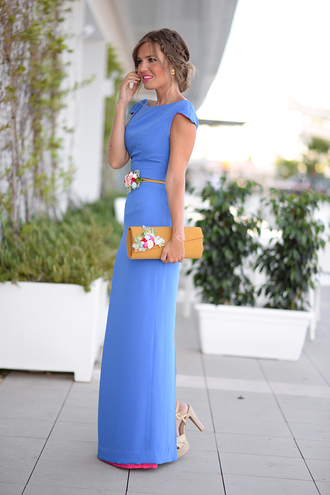 mi aventura con la moda blogger bridesmaid long dress blue dress wedding clothes