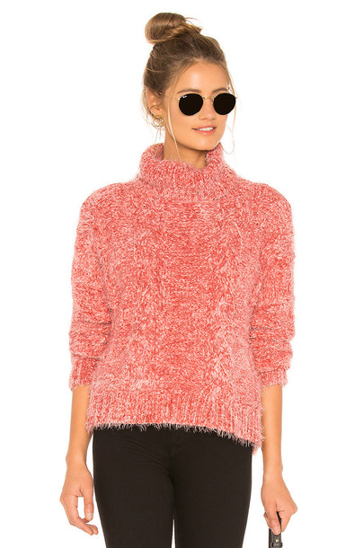 BB Dakota Eyelash Kisses Sweater in pink