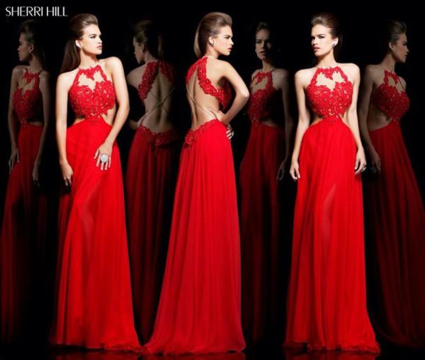 dress sherri hill red dress