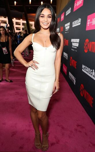dress vanessa hudgens bustier white white dress latex