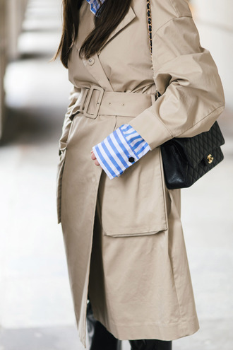 coat tumblr camel camel coat trench coat masculine coat bag black bag chanel bag quilted bag french girl style