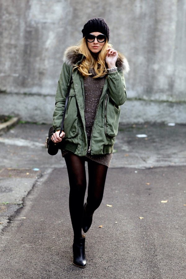 Coat: olive green, jacket, fur, faux fur jackey, faux fur coat ...