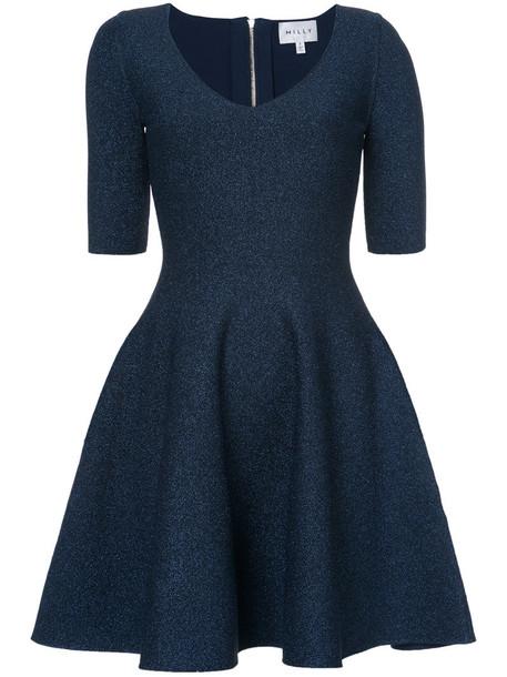 MILLY dress women spandex blue