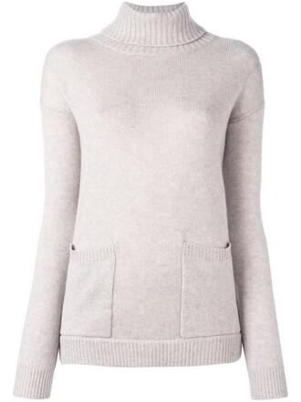 sweater turtleneck turtleneck sweater loose women nude wool