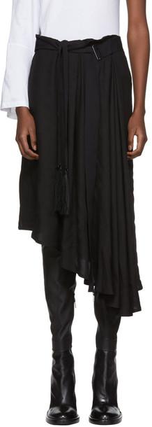ANN DEMEULEMEESTER skirt infinity black