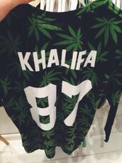 sweater,jersey,weed,blouse,shirt,khalifa,wiz,swag,87,bag,green,t-shirt,wiz khalifa,hip hop,dope shit,marijuana,dope,green and black,black and green,black,black t-shirt,green t-shirt,white,joy wiz khalifa,rapper,50cent,jacket,bud,undefined,drugs,cigar,hoodie,sweats,varsity,weed shirt,mary jane,blunt,weed sweater,t shirt.