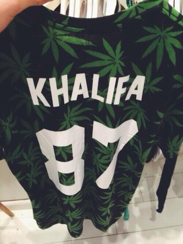 sweater jersey weed green dope swag shirt t-shirt blouse marijuana