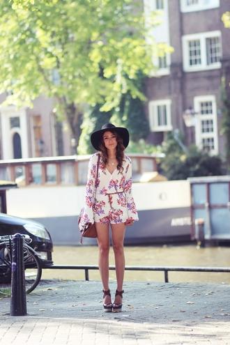hippie bag romper preppy fashionist blogger wedge sandals
