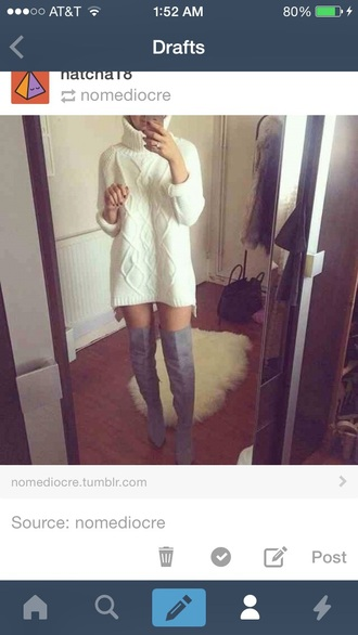shoes knee high boots boots grey