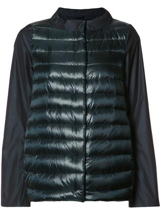 jacket down jacket high women high neck cotton blue