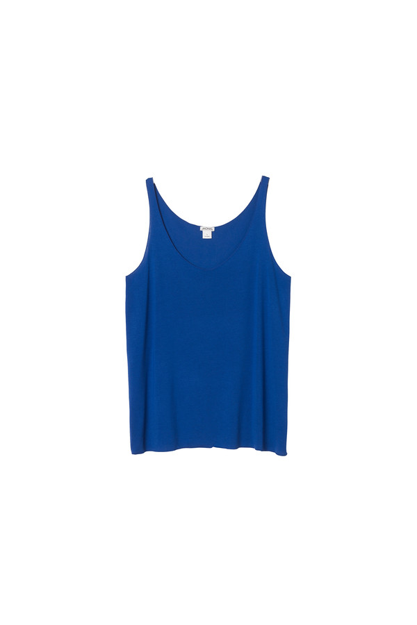 tank top raw-edge v-neck tank top monki