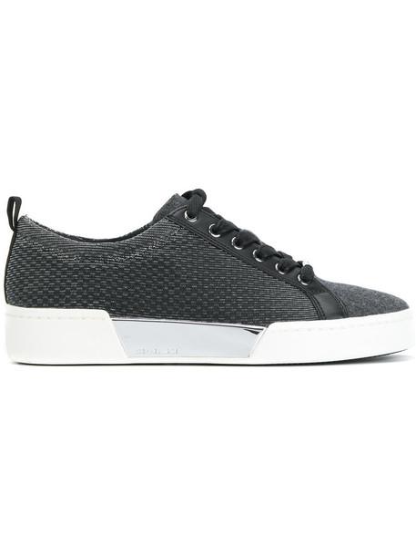 Michael Michael Kors - contrast platform sneakers - women - Cotton/Leather/Lurex/rubber - 8, Grey, Cotton/Leather/Lurex/rubber