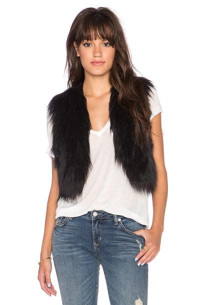 vest fur vest faux fur vest fur faux fur black