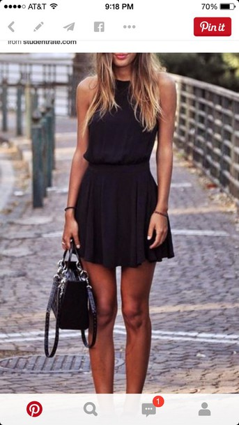 dress black dress black skater skirt skater dress mini dress short dress dress little black dress summer dress cute pretty pinterest shoes shorts clothes