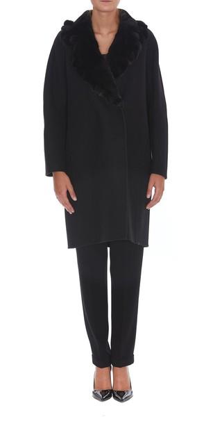 Ermanno Scervino coat fur black