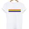 Rainbow line shirt