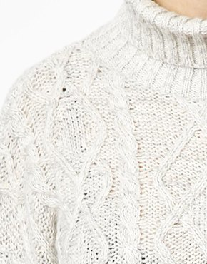 New Look | New Look Cable Sweater at ASOS