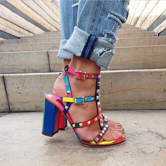 shoes fashion style spring rainbow instagram ootd sotd