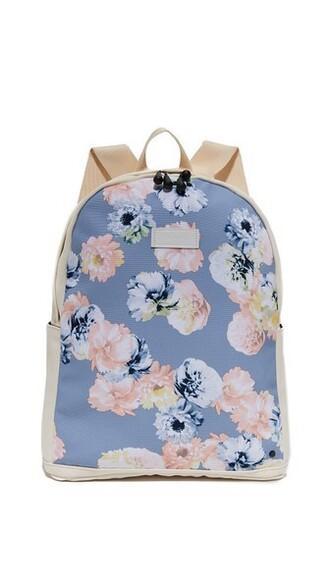 backpack floral grey bag