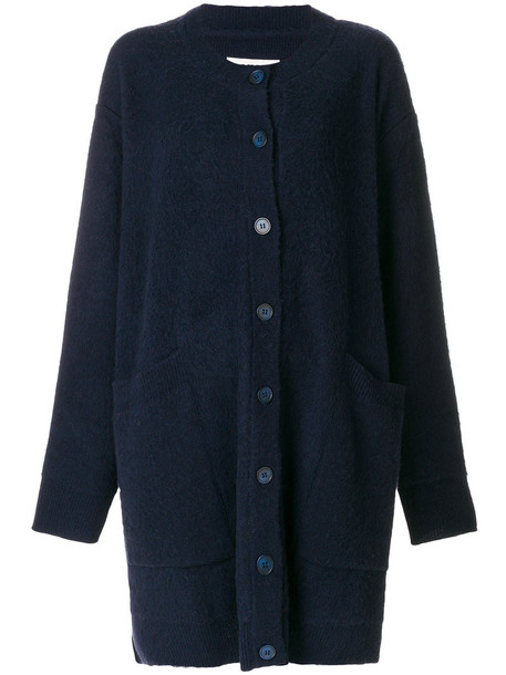 Mm6 Maison Margiela cardigan cardigan oversized women blue wool sweater