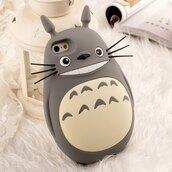 phone cover,tonari no totoro,kawaii,cute,animal,funny,iphone case,iphone cover,kawaii accessory,totoro,anime