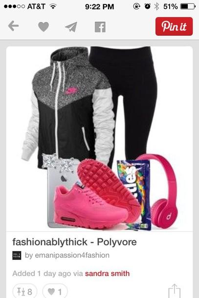 jacket nike air nike sweater black t-shirt pink shirt