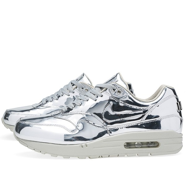 air max silver shoes