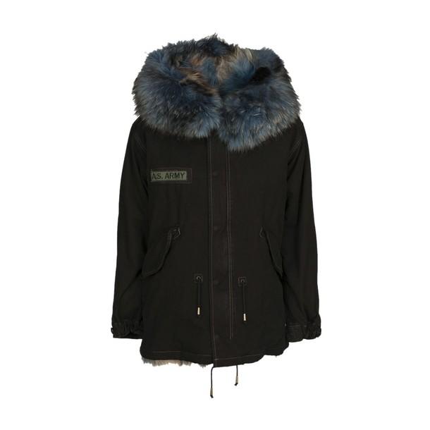 As65 jacket fur black